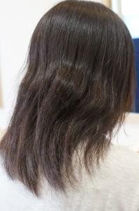クセ+結び跡 乾燥毛毛先ダメージ